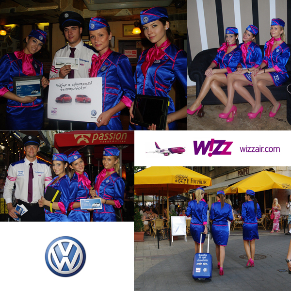 Volkswagen/Wizzair co-promotional campaign, hostess promotion