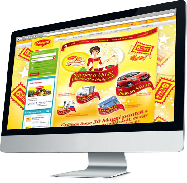 Maggi Kitchen Fairy promotional campaign, microsite