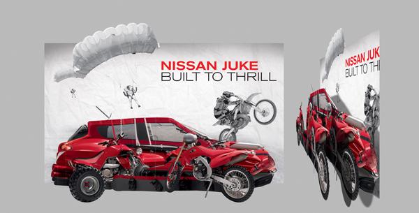 Nissan Juke, office decoration