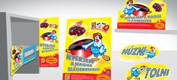 Maggi Kék Csibe promotional campaign, POS