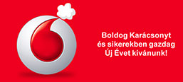 Vodafone, holiday greetings banner concept