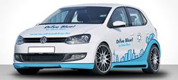 Volkwagen Think Blue car decoration