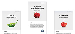 Volkswagen's Dining Guide print campaign