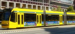 Claritine image campaign, tram decoration
