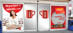 Nescafé Tesco promotion, door design